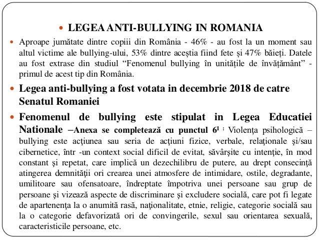 Bullying ul ca forma de violenta in  institutia de invatamant  by Dumitrache Cristina Slide 3