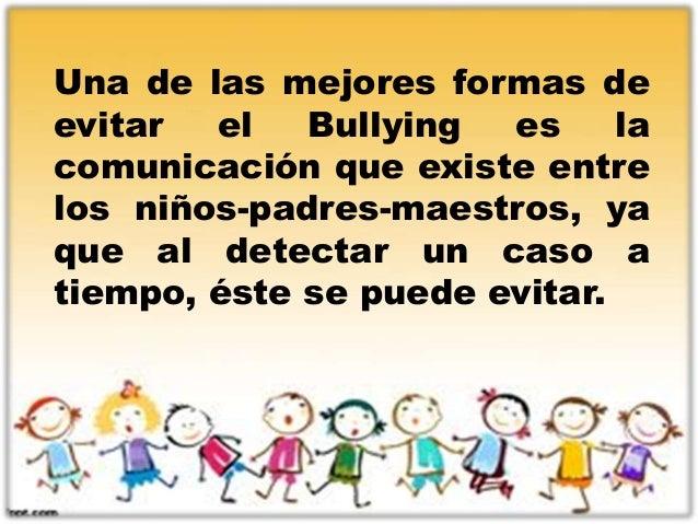 como evitar el bullying