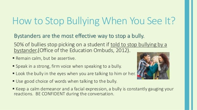 HOW TO PUT AN END TO BULLYING