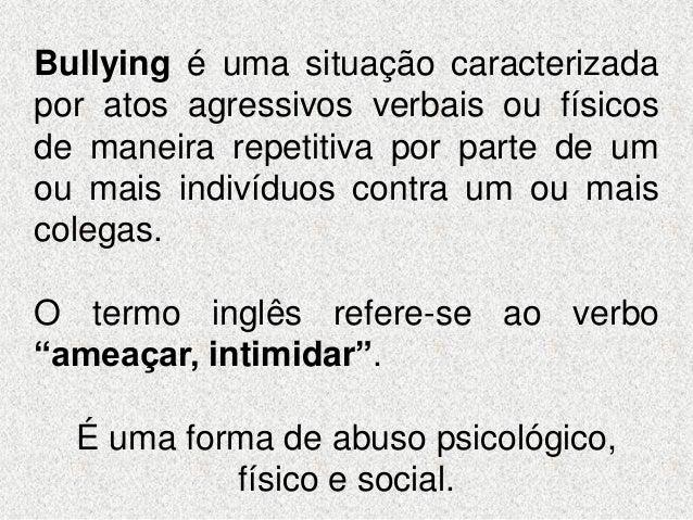 Bullying Um Tema Em Discussão