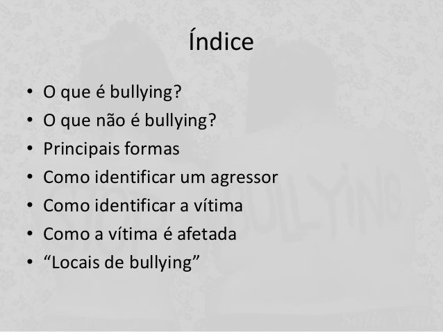 Bullying apresentação Slide 3