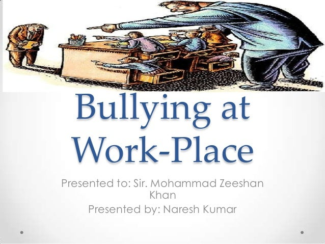 Homophobia and work place bullying