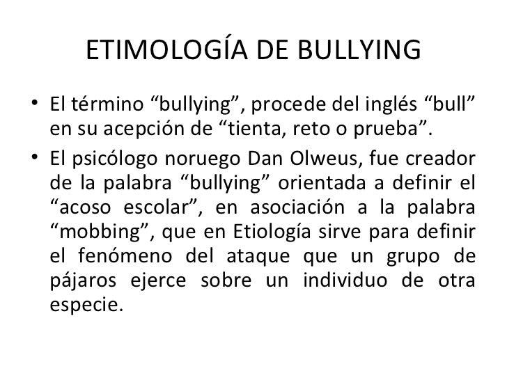Bullying cuando elamorfalta profesores for De que lengua proviene la palabra jardin