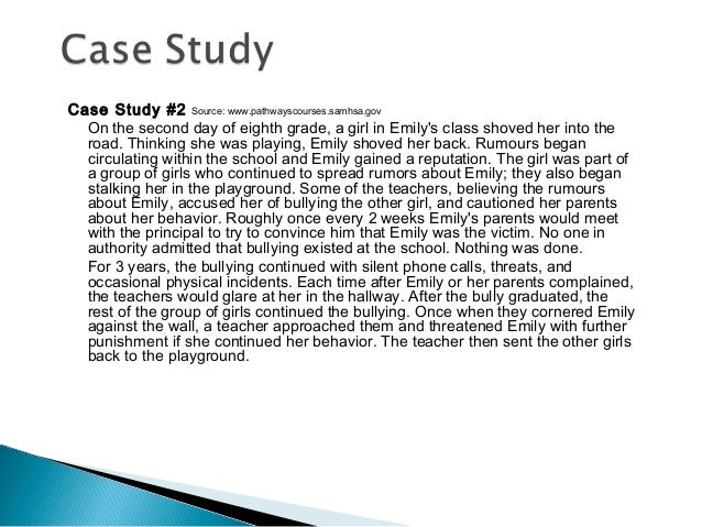 A Case Study with an Identified Bully: Policy and Practice ...