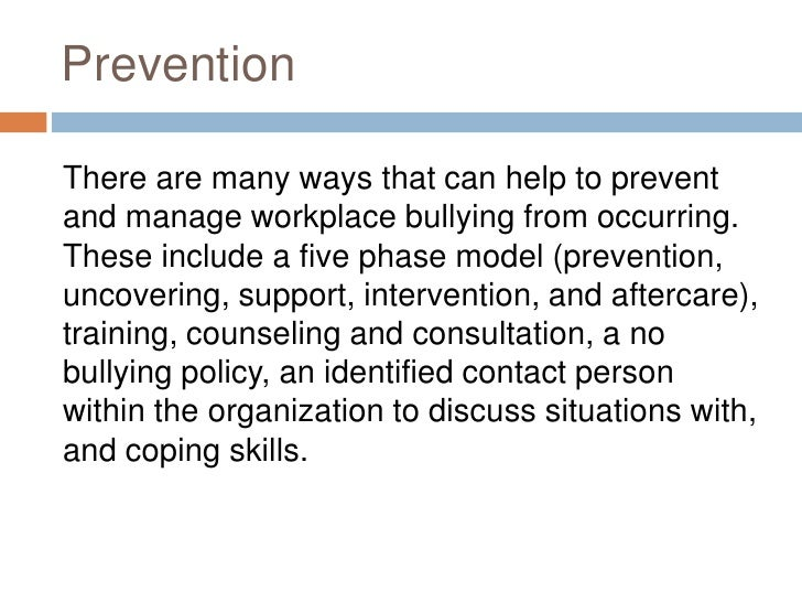 thesis statement for a paper on bullying