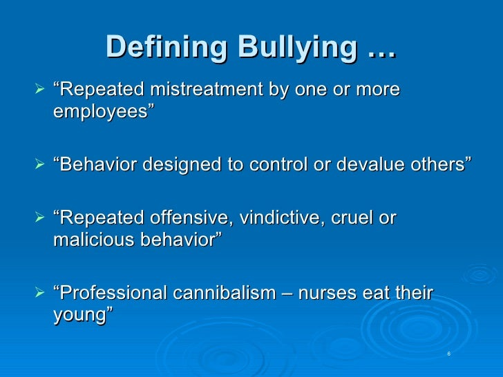 bullying at the workplace pdf