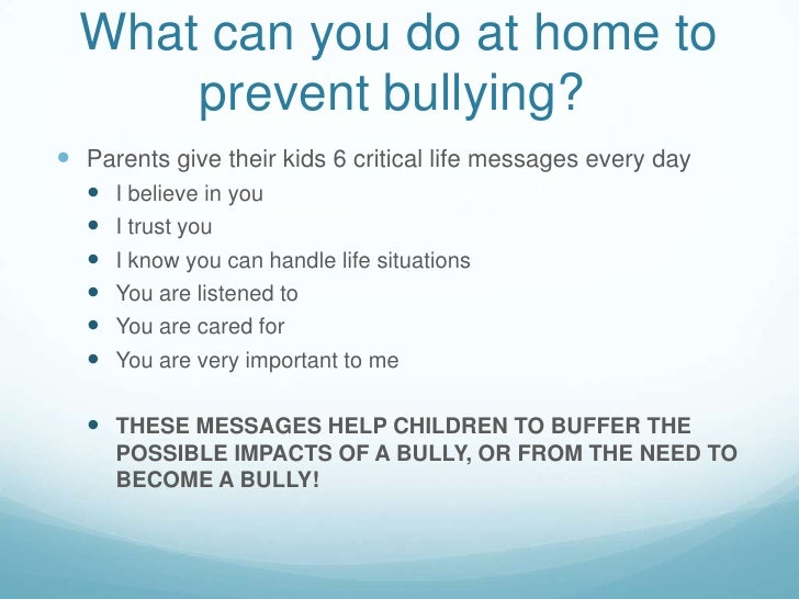how to prevent bullying in school pdf