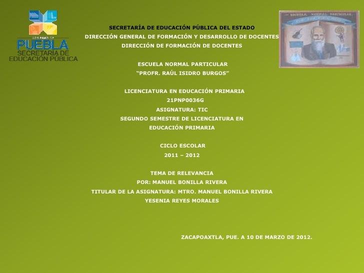 SECRETARÍA DE EDUCACIÓN PÚBLICA DEL ESTADODIRECCIÓN GENERAL DE FORMACIÓN Y DESARROLLO DE DOCENTES          DIRECCIÓN DE FO...