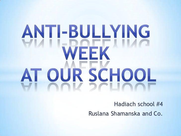 Hadiach school #4Ruslana Shamanska and Co.