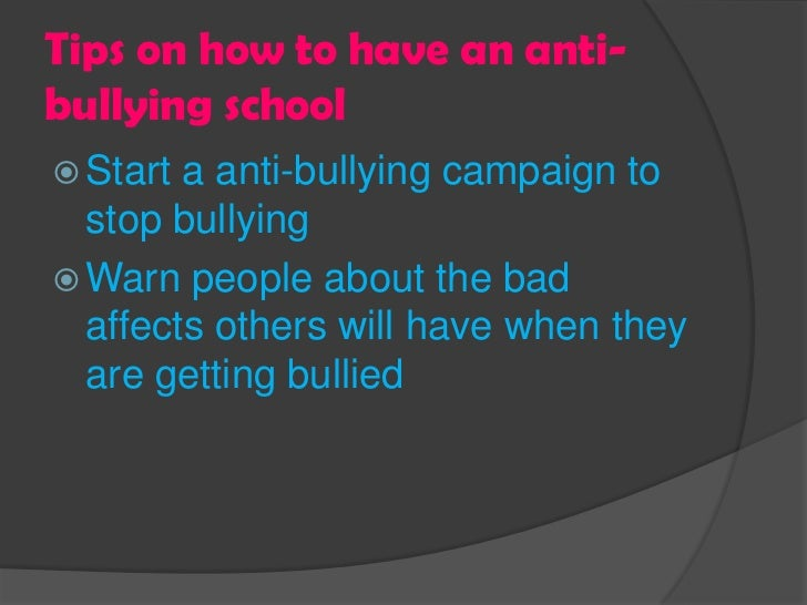 anti bullying speech ideas