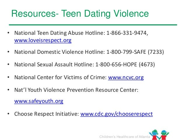dating hotlines for teens
