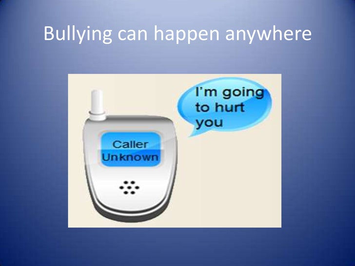 Bullying can happen anywhere<br />