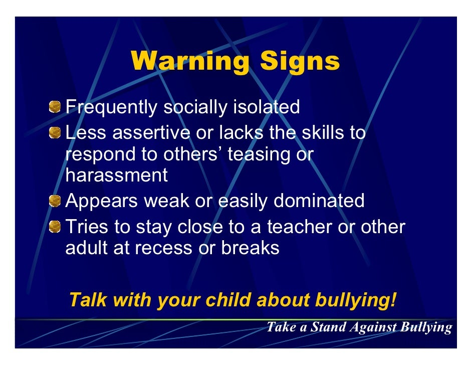 ... Stand Against Bullying; 10.