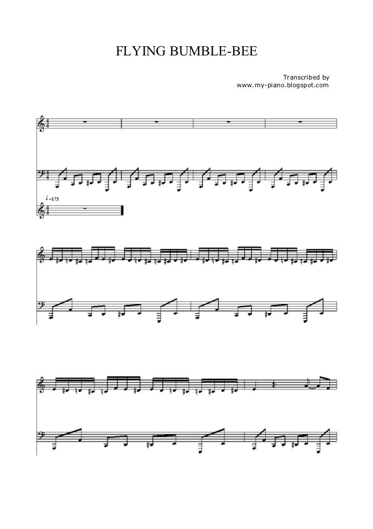 FLYING BUMBLE-BEE                          Transcribed by              www.my-piano.blogspot.com