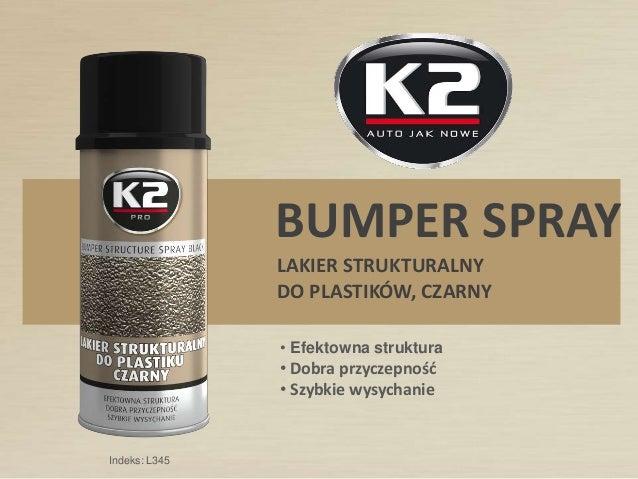 K2 Bumper Spray 400ml Czarna Strukturalna Farba Do