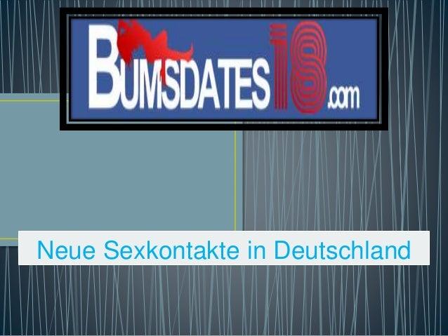 Neue Sexkontakte in Deutschland