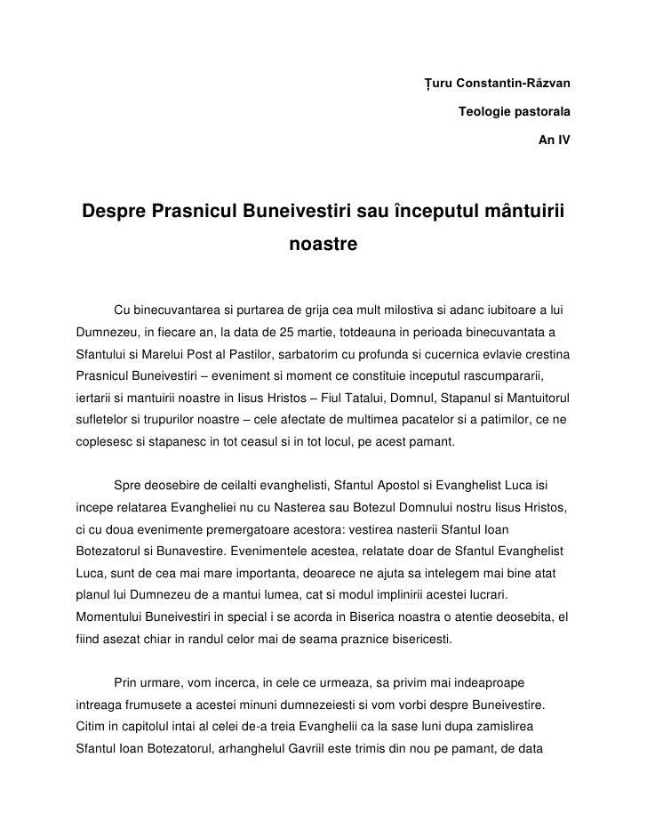 Ţuru Constantin-Răzvan                                                                         Teologie pastorala         ...