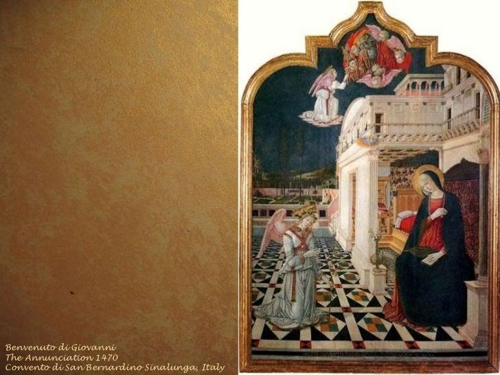 Benvenuto di Giovanni The Annunciation 1470 Convento di San Bernardino Sinalunga, Italy