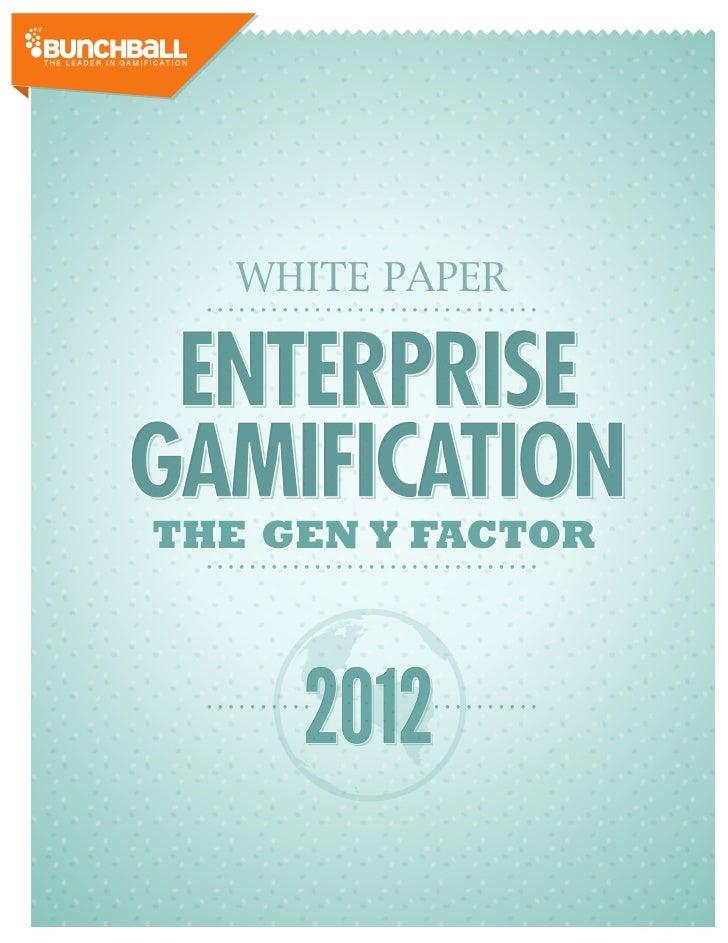 WHITE PAPERTHE GEN Y FACTOR