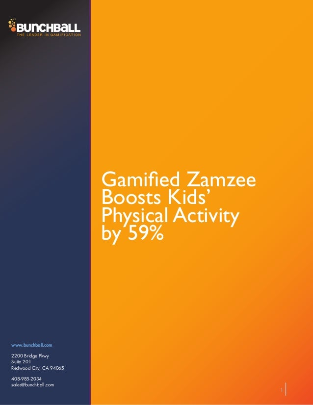 Gamified Zamzee                         Boosts Kids'                         Physical Activity                         by ...