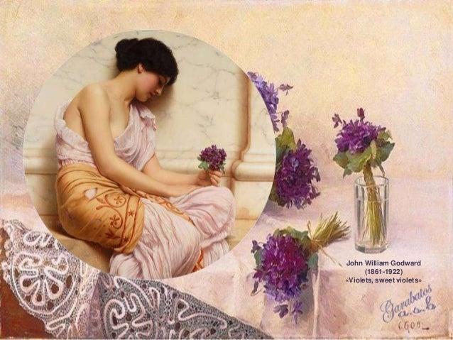 John William Godward      (1861-1922)«Violets, sweet violets»