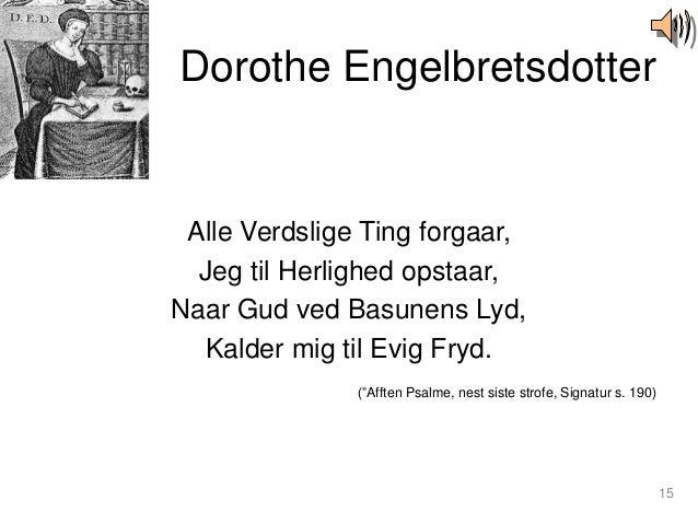 dorothe engelbretsdotter dikt