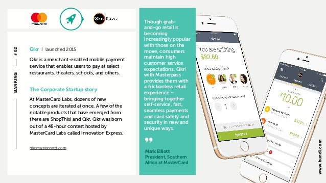 c The Corporate Startup story AtMasterCard Labs, dozens of new concepts are iterated at once. A few of the notable produc...