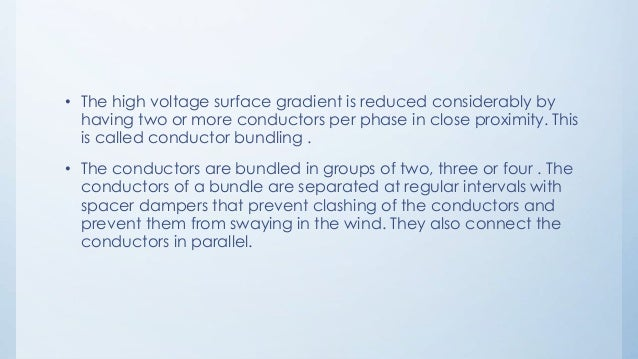 Bundle conductors in transmission line