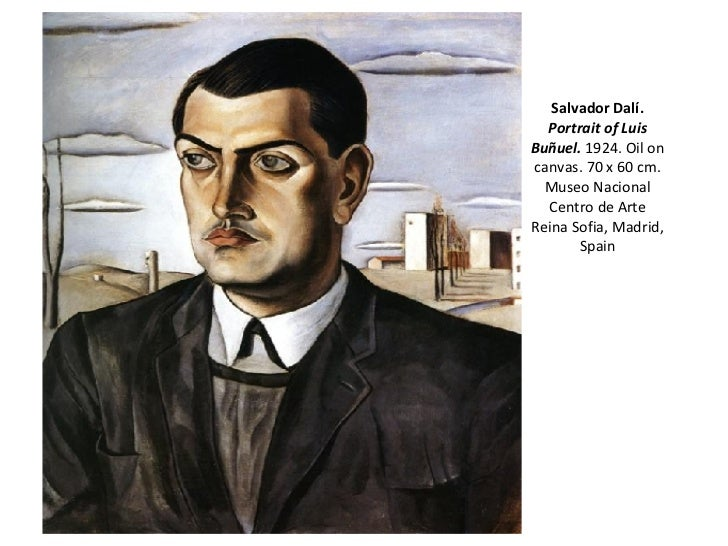 Salvador Dalí.   Portrait of Luis Buñuel.  1924. Oil on canvas. 70 x 60 cm. Museo Nacional Centro de Arte Reina Sofia, Mad...