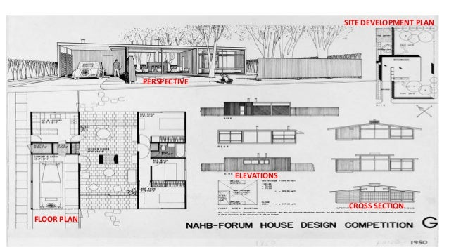 Plan Elevation Cross Section : Bungalow ppt for grade
