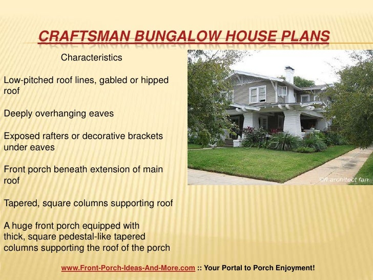 Craftsman bungalow house plans - Craftsman style house characteristics ...