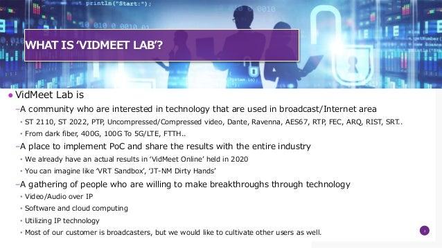 Introducing VidMeet Lab Slide 2