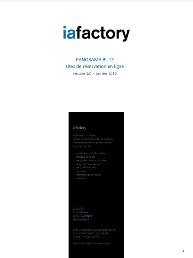 1 IAFACTORY 3 place d'armes 67500 HAGUENAU www.iafactory.fr SARL unipersonnelle au capital de 5 000 € R.C.S. STRASBOURG TI...
