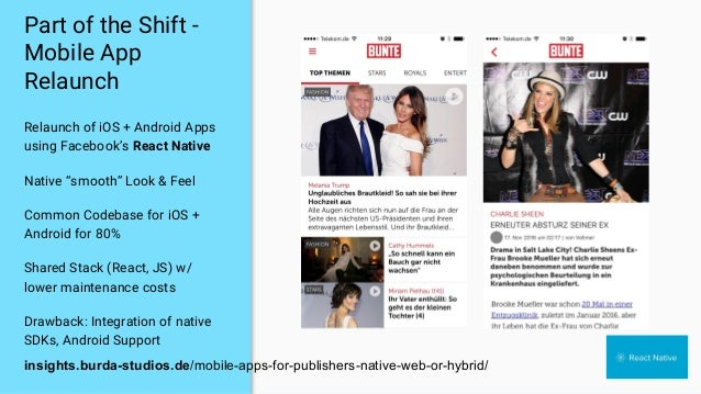 """Part of the Shift - Mobile App Relaunch Relaunch of iOS + Android Apps using Facebook's React Native Native """"smooth"""" Look ..."""