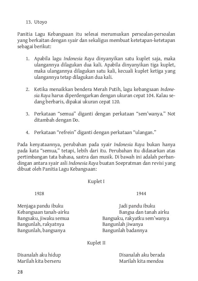 Not Angka Dan Not Balok Lagu Indonesia Raya 3 Stanza