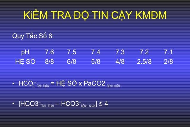 Nhận xét: Máu động mạch và máu tĩnh mạch: pH, PC02, HC03 gần giống nhau, khác nhau về Pa02 (máu tĩnh mạch có Pa02= ½ máu đ...
