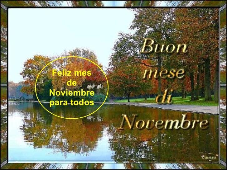 Feliz mes de Noviembre para todos