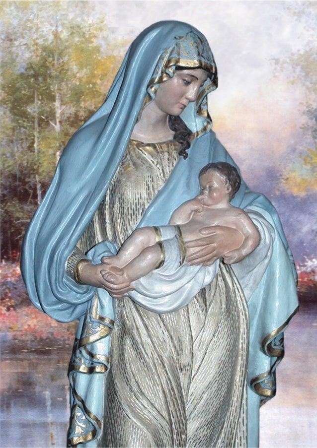 """LA VIRGEN DEL P. CHAMPAGNAT Y DE LOS MARISTAS ITINERARIO HISTÓRICO DE LA IMAGEN DE """"LA BUENA MADRE"""" 1. Una estatua mariana..."""