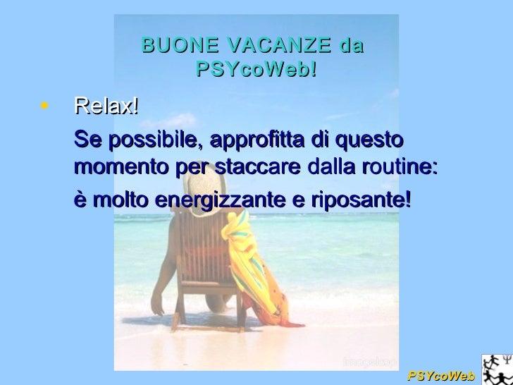 Buone Vacanze Da Psycoweb