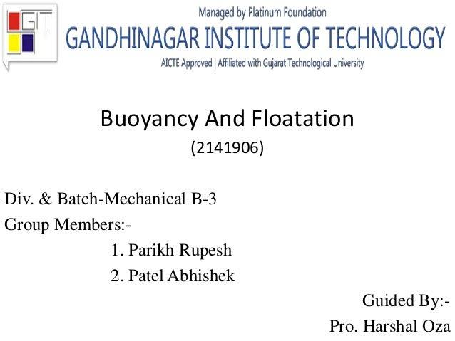 Buoyancy & floatation