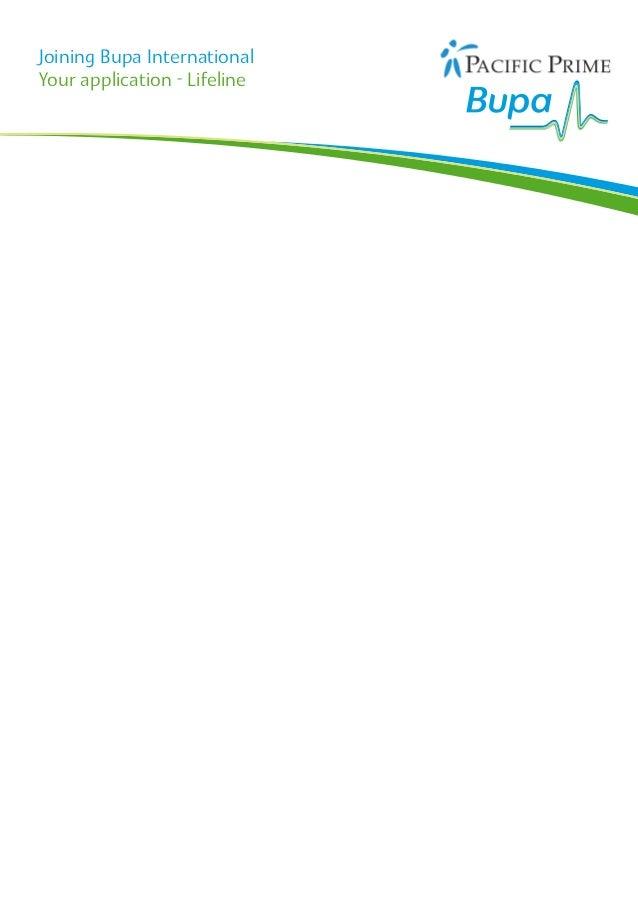 Joining Bupa InternationalYour application - Lifeline