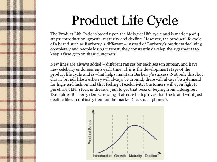 Product Life CycleThe Product Life Cycle is based upon the biological life cycle and is made up of 4steps: introduction, g...