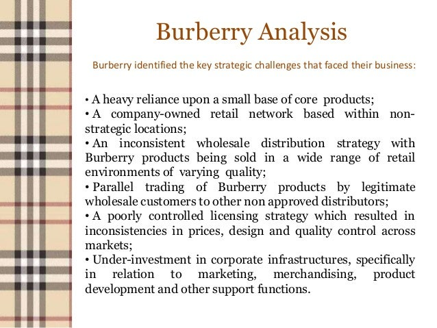 burberry business strategy In the world of luxury clothing brands, there are two that stand out: burberry and  hermes both brands are longstanding international status.
