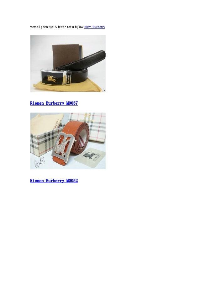 Verspil geen tijd! 5 feiten tot u bij uw Riem Burberry  Riemen Burberry M0057  Riemen Burberry M0052