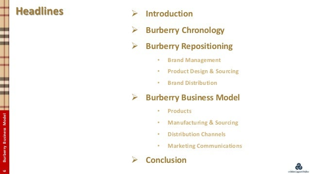 marketing objective of burberry