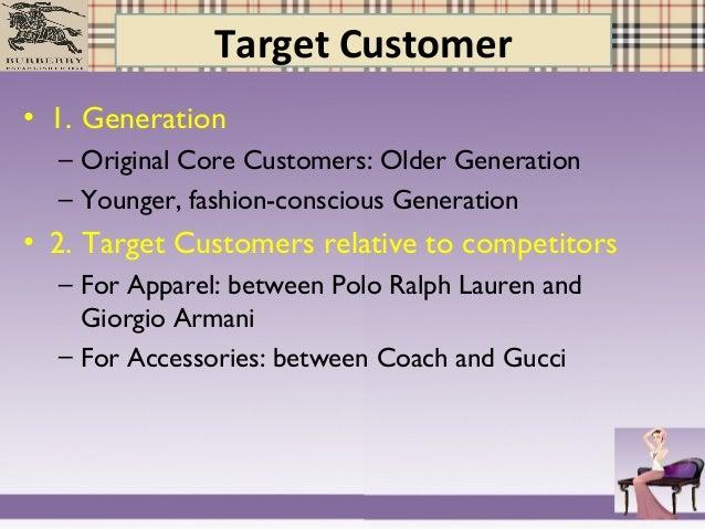 burberry target customer