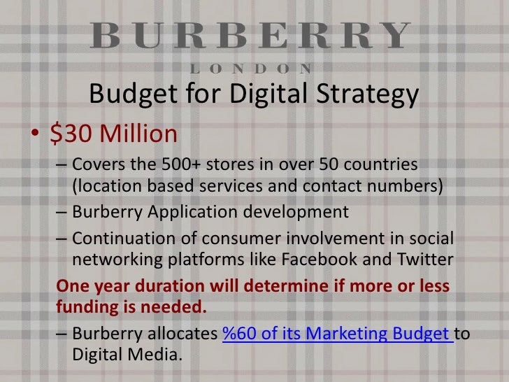 marketing strategies of burberry Learn about working at burberry join linkedin today for free see who you know at burberry, leverage your professional network, and get hired.