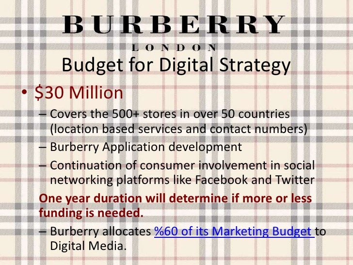 burberry digital marketing Burberry has focused more on digital marketing than most fashion accessory brands the luxury brand's emphasis on social channels is a huge success.