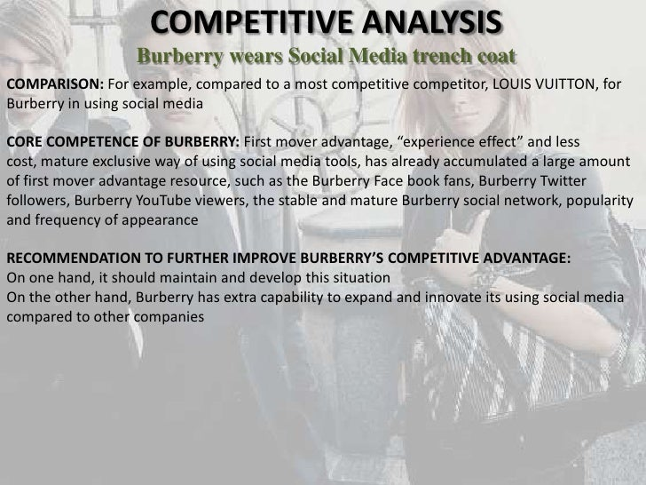 Burberry Social media analysis university of strathclyde – Competitive Analysis Example