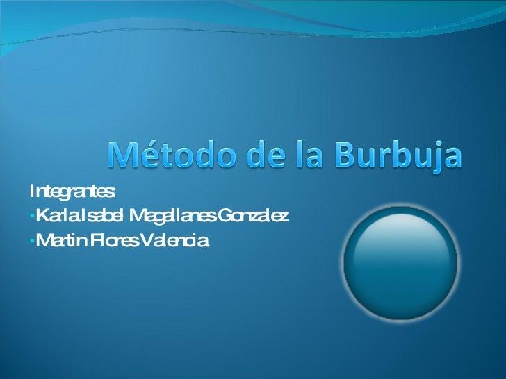 <ul><li>Integrantes: </li></ul><ul><li>Karla Isabel Magallanes Gonzalez </li></ul><ul><li>Martin Flores Valencia </li></ul>
